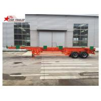 China Port Transportation 20ft Container Trailer With Steel Leaf Spring Suspension wholesale