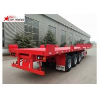 China Custom Air Suspension 18 Wheeler Flatbed Trailer For Heavy Duty Cargo wholesale