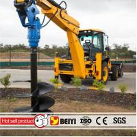 China Auger drilling machine BYS10000 Excavator ground hole drill hydraulic auger drilling equipment used on excavator wholesale