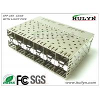 China SFP Module 2x6 Stacked SFP Jack With LEDs wholesale