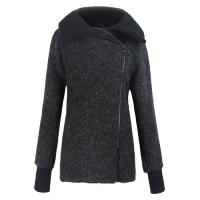 Quality High Collar ladies fall jackets / womens winter Wool coats and jackets for sale