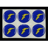 Quality Water Resistant 3D Resin Domed Decal Labels 25mm Round Stickers for sale