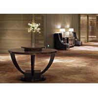 China Contemporary Modern Lobby Furniture , Dark Round End Tables 150 cm wholesale