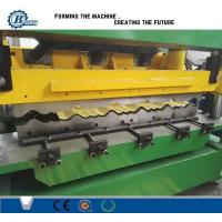 China Green Color Metal Steel Roof Tile Roll Forming Machine Hydraulic Cr12 Cutting Blades wholesale