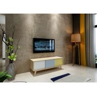 China Modern Wooden TV Table With Yellow and Grey High Gloss Furnishing wholesale