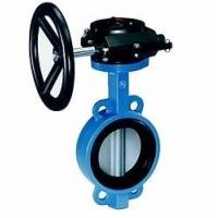 China Industrial butterfly wafer valve With Gearbox , PN 10 Bar Hand / Manually Operated,CAST IRON,WCB wholesale