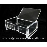 China Foshan factory supply transparent acrylic business card holder for office wholesale