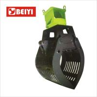 China Buy BeiYi Waste Grapple Hydraulic Excavator Rotating Log Grapple for sales wholesale