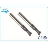 China Solid Carbide Cutting Tool Flat End Mills For Stainless Steel TialN / TiCN Coating wholesale