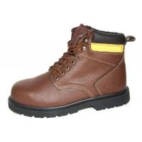 China High Ankle Leather Comfortable Steel Toe Shoes  , 43'' Size Industrial Work Shoes wholesale