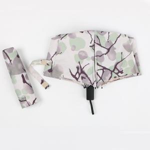 China Uv Three Fold Umbrella With Golden Coating Inside Custom Full Color Printing Printed on sale