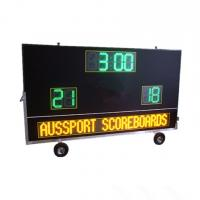 China Electronic Waterproof Outdoor Soccer Scoreboard With Message Sign / Moving Stand wholesale