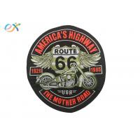 China Rectangle Embroidered Motorcycle Patches , Custom Made Patches For Leather Vests wholesale