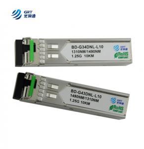 China CE FCC approved 1000LX (LC) single-mode 1310Tx/1490Rx, 10 km 1.25g BiDi SFP Module wholesale