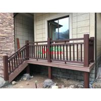 China Plastic wood composite Fence for villa decoration , Customized Privacy Fencing Anti - UV with little maintenance wholesale