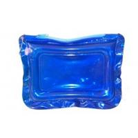 China Blue Clear PVC Bags With Zipper  wholesale