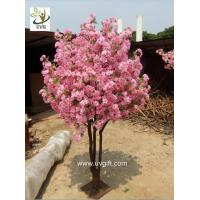 China UVG miniature cherry blossom tree artificial trees indoor with pink flowers for weddings wholesale