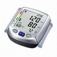 China Wrist Talking Digital Blood Pressure Monitor with Storing 2 x 60 Group Memory, Easy-to-read wholesale