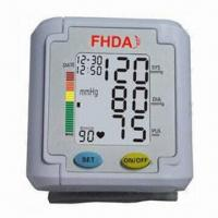 China Automatic Wrist Blood Pressure Monitor with 3 colors of back light wholesale