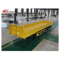 China 3/4 Axles Drop Deck Semi Trailer , Heavy Duty Semi Trailers For Truck wholesale