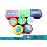 Casino Crystal Personalized Poker Chips Set With Multi - Color Can Be Choosed for sale