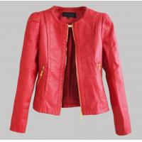 Quality Women faux leather jacket PU Leather Short Jacket Feminino Jaqueta couro Sexy 3colours for sale