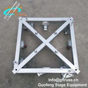 China TUV Aluminum Square Truss Basement Truss Base Plate With Wheels wholesale