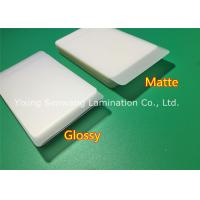 China Protective Matte Lamination Film Business Card Size Laminating Pouches 250 Micron wholesale