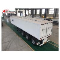 China High - Tensile Steel Flatbed Container Trailer With Water Proof Design wholesale