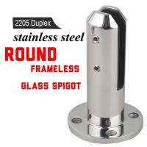 China Mirror Polished 2205 Glass Railing / Balustrade / Pool Fence Spigot wholesale