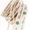 China 100% Natural Custom Printed Ribbon , Personalised Cotton Ribbon Eco - Friendly wholesale