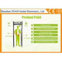 Buy cheap Full Automatically Airport Security Metal Detectors , Pass Through Metal Detector from wholesalers