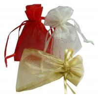 China Wedding Gift Drawstring Jewelry Pouch ISO9001 Approved Comfortable Organza Bags wholesale