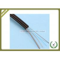 China Outdoor Fiber Optic Drop Cable 1 Core Steel Wire PVC / LSZH Jacket Flexible wholesale