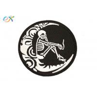 China Fashion Custom Made Motorcycle Patches Round Shape Skull Motorcycle Patches wholesale