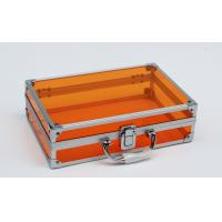 China Acrylic Aluminum Small Case with Emty Inside Orange New Color 260*170*150mm wholesale
