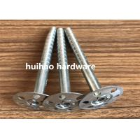 China Galvanized Steel Rock Wool Insulation Anchor pins With 35mm Round Washer Base wholesale
