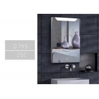 China Customized Demister LED Bluetooth Bathroom Mirror With Clock And Calendar wholesale