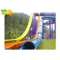 China Playground Fiberglass Speed Water Slide Anti UV Professional Design Durable wholesale