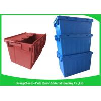 Quality Warehouse Nestable Plastic Tote Boxes / stackable bins with hinged lids wholesale