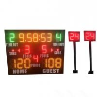 China Small Model Standard LED Basketball Scoreboard Plus Shot Clock Long Life wholesale