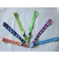 China Heat Transfer Event/Festival  Fabric Polyester Wristband wholesale