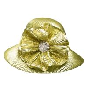 Quality Gold Silver Metallic Braid Ladies' Church Hats Stunning Diamond Buckle trimming for sale