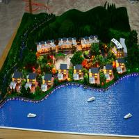 Quality Custom Acrylic Architectural Model Supplies Massing For Shore Side Villa for sale