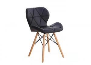 China Leisure Hotel Chinese Style Black Ergonomic Nordic Wooden Dining Chairs With Solid Beech Wood Legs wholesale