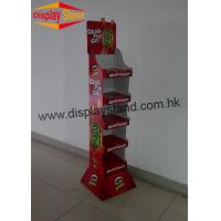 Quality Supermarket Retail Laminated Cardboard Display Stand with 4 Layers for sale