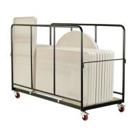 Quality Steel rolling trolley basket with wheels for sale