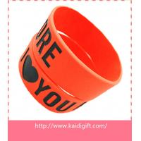China new fashion silicone arm band,1 inch silicon wrist bands wholesale