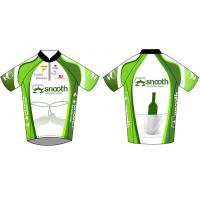 Quality Short Sleeve Team Sublimated Cycling Wear / Custom Half Zip Racing Bicycle Jersey for sale