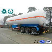 China White Color LPG Semi Trailer , Propane Transport Trailers With Tri Axle wholesale